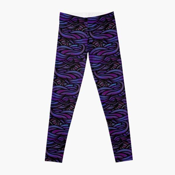 Purple waves Leggings