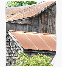 Rusted Roof Tops Poster