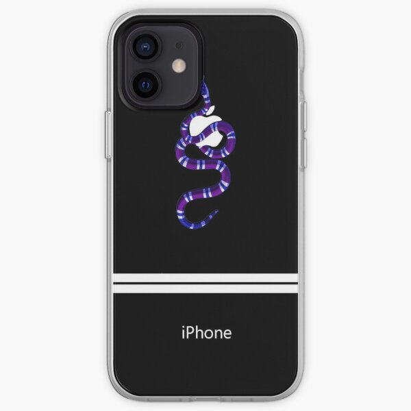 Blue Snake and Apple Iphone Cover iPhone Soft Case