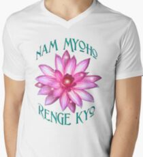 """Nam Myoho Renge Kyo""  Men's V-Neck T-Shirt"