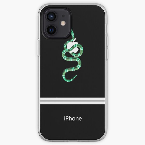 Green Snake and Apple Iphone Cover  iPhone Soft Case