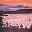 Sunrise At Bar Harbor, Maine by Helena Bebirian