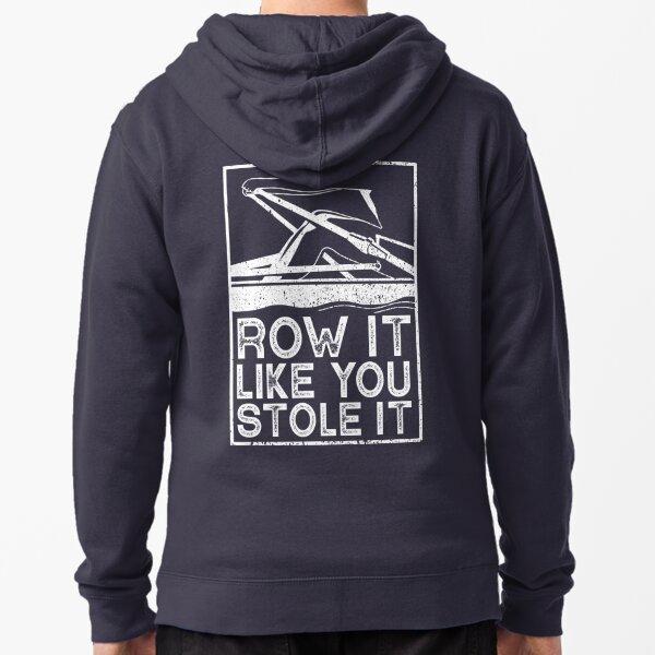 Unisex Rowing T shirt Zipped Hoodie