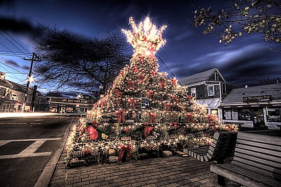 Provincetown Lobster Trap Christmas Tree by Artist Dapixara
