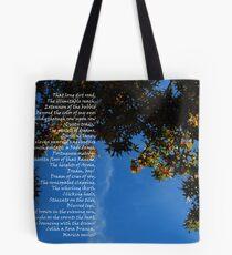 It ain't Kansas, Boy!  (Duncanville, Texas tree) Tote Bag