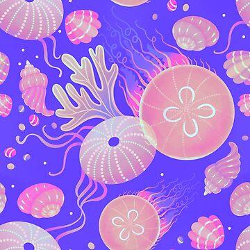 Ocean life - neon by Elenanaylor
