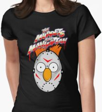 muppets beaker mashup friday the 13th Womens Fitted T-Shirt