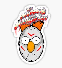 muppets beaker mashup friday the 13th Sticker