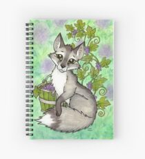 Fox and Grapes - Mixed Media Spiral Notebook