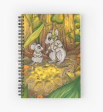 Hunting Lessons - Tribal Mice in the Jungle Spiral Notebook