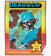 Artwork Grateful Company Summer Dodger Stadium Dead Poster July 7 2018 Poster