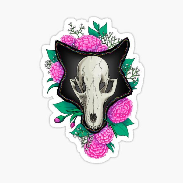 Fox Skull Sticker