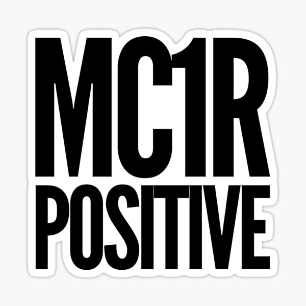MC1R POSITIVE Sticker
