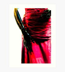 Just hands and a beautiful red dress Art Print