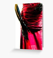 Just hands and a beautiful red dress Greeting Card
