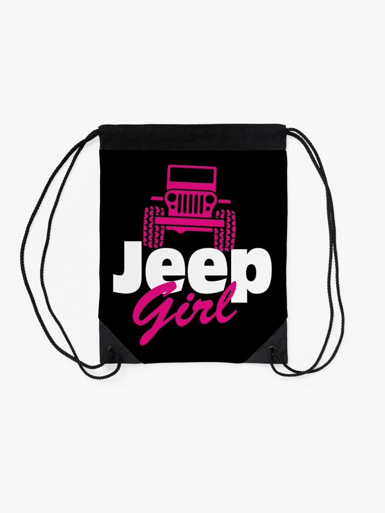 Alternate view of Jeep Girl Drawstring Bag