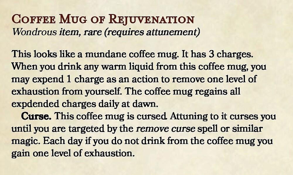 Coffee Mug of Rejuvenation (Fifth Edition Compatible) by hamrickbrands