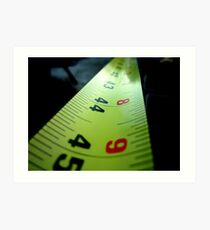 Measuring Tape Art Print