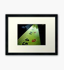 Measuring Tape Framed Print