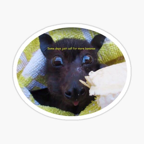 Batzilla - Batties are batty for bananas!  Sticker