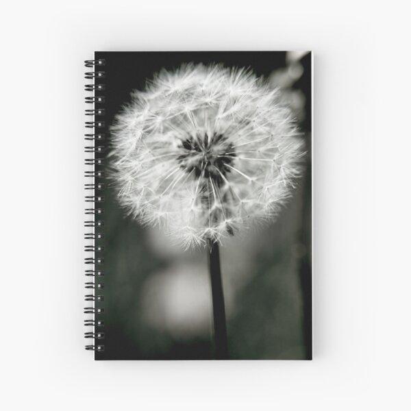 A Dark Heart - Gothic Dandelion Spiral Notebook