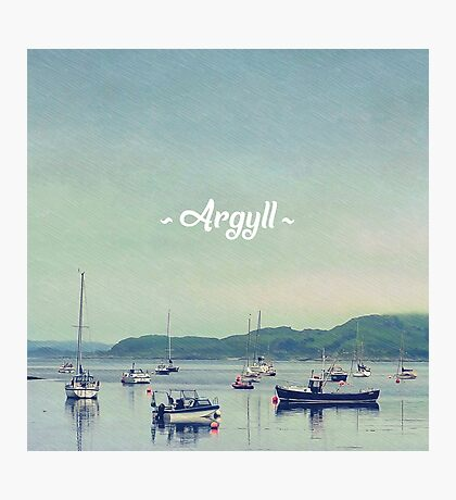 Argyll Coastline With Boats Photographic Print