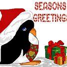 Seasons Greetings Penguin by plunder