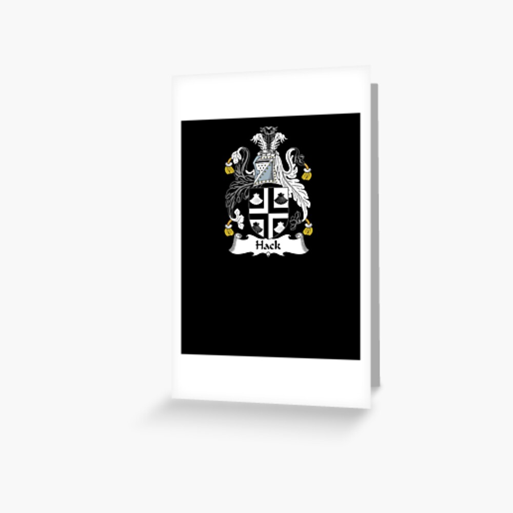 Hack Coat of Arms - Family Crest Shirt Grußkarte