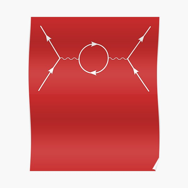 Second Order Feynman Diagram- Particle Physics Poster