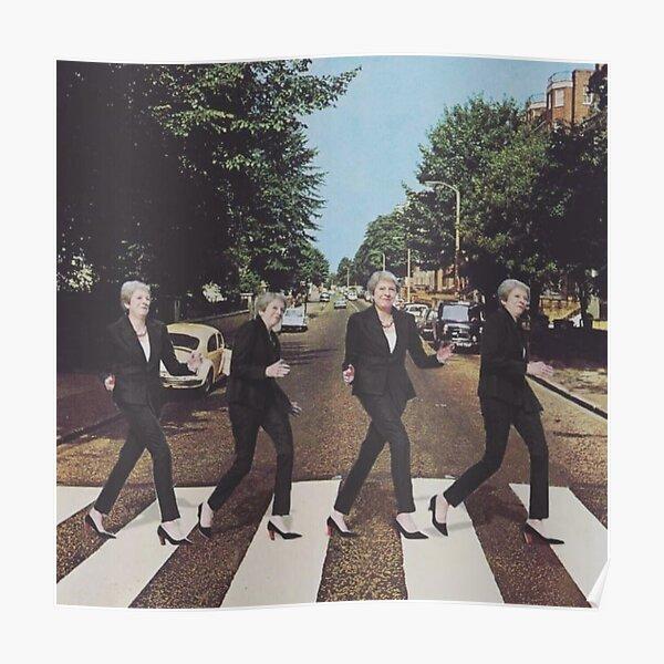 Theresa May walking Poster