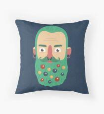 Beard Baubles Throw Pillow
