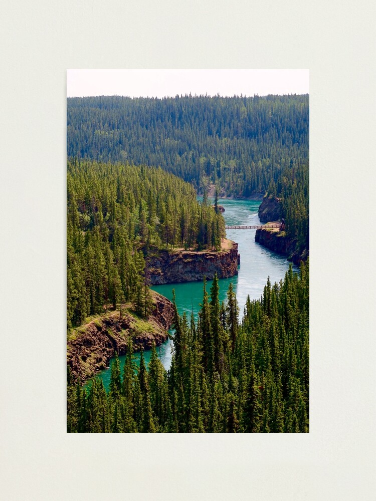 Alternate view of Miles Canyon, Canada Photographic Print