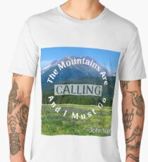 The Alaskan Mountains are Calling Men's Premium T-Shirt