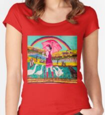 Rebuliding the Puszta Women's Fitted Scoop T-Shirt