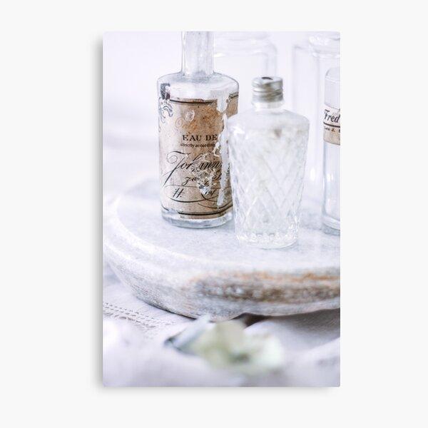 Vintage Perfume Bottle Metal Print