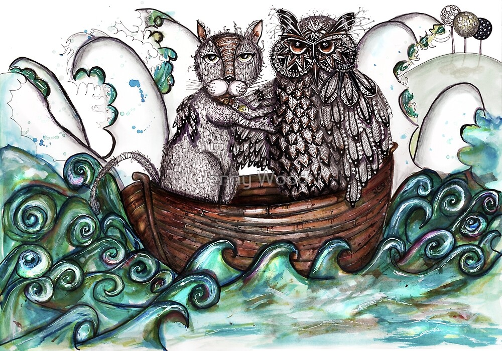 The owl and the alleycat by Jenny Wood