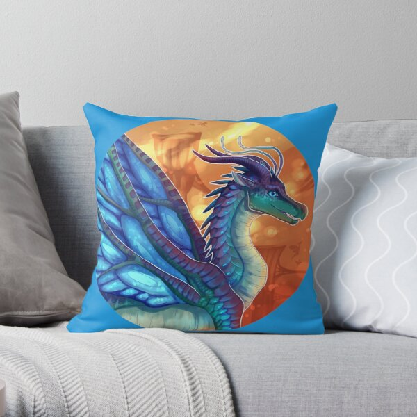 Wings of Fire - Blue Throw Pillow