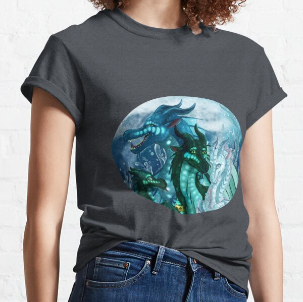 Wings of Fire - Royal SeaWings - Auklet, Tsunami, Turtle, Anemone Classic T-Shirt