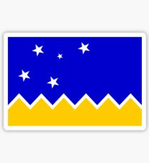 Flag of Chilean Antarctic Territory  Sticker