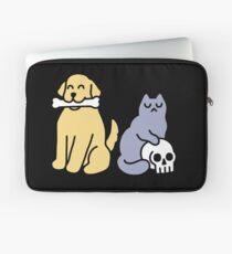 Good Dog Bad Cat Laptop Sleeve