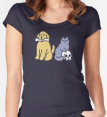 Good Dog Bad Cat Fitted Scoop T-Shirt