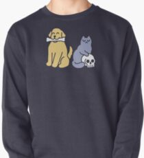 Good Dog Bad Cat Pullover Sweatshirt