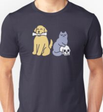 Good Dog Bad Cat Slim Fit T-Shirt