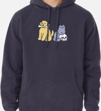 Good Dog Bad Cat Pullover Hoodie