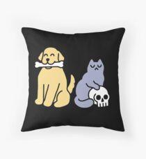Good Dog Bad Cat Floor Pillow