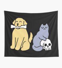 Good Dog Bad Cat Wall Tapestry