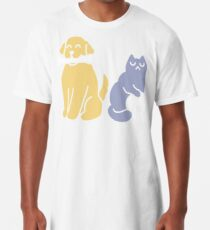 Good Dog Bad Cat Long T-Shirt