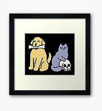 Good Dog Bad Cat Framed Print