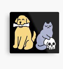 Good Dog Bad Cat Metal Print