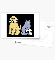 Good Dog Bad Cat Postcards